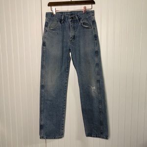 Rustlers high rise vintage distressed jeans